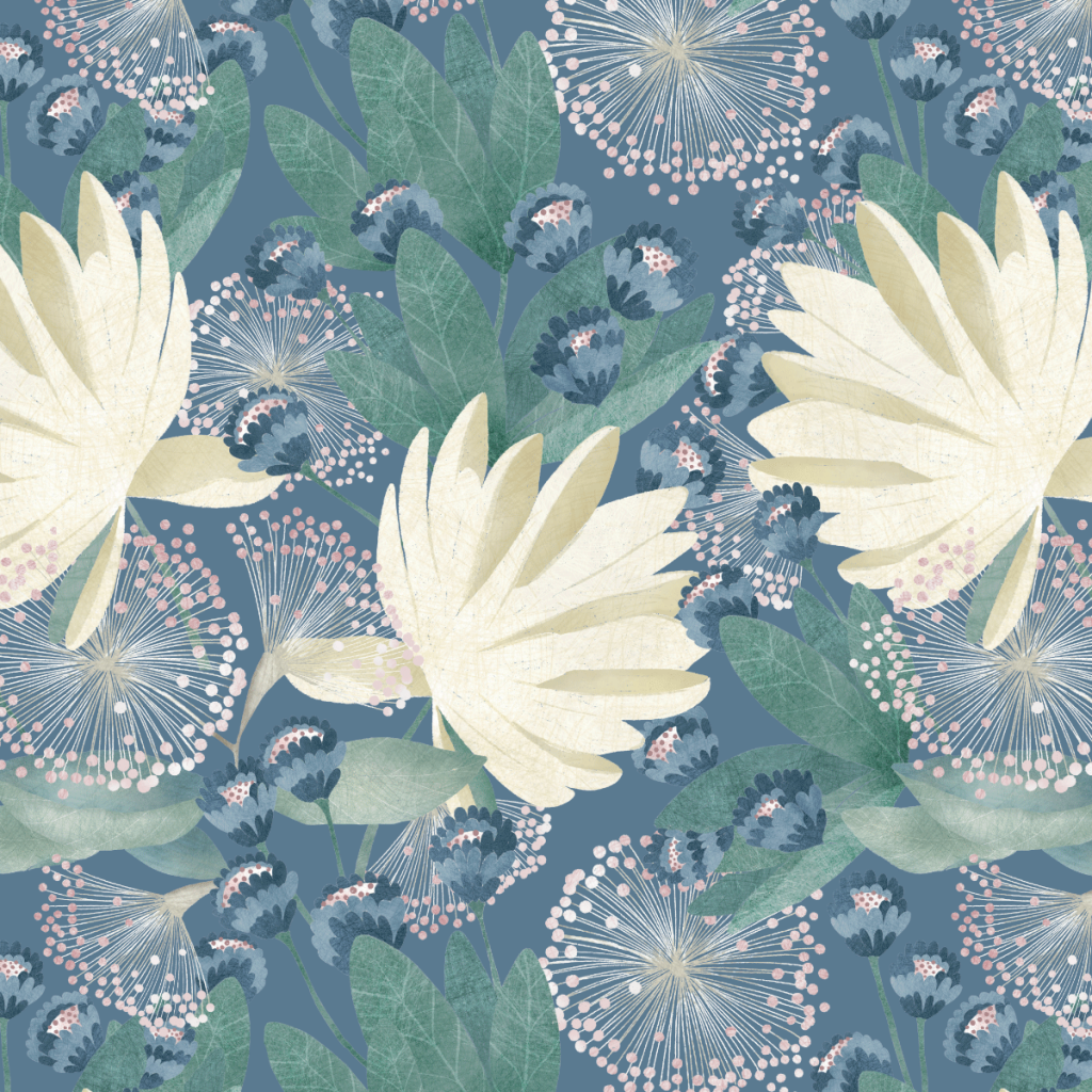 © 2021 Nocturne Botanical - Seamless Pattern by Angelica Venegas